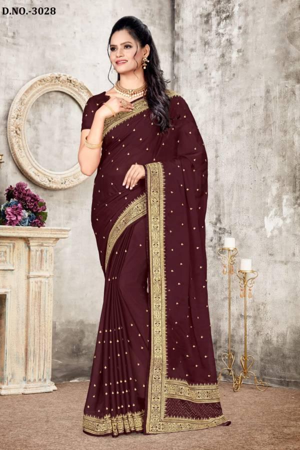 Nari Fashion Ladyview Vichitra SIlk Zari Work Sarees Collection
