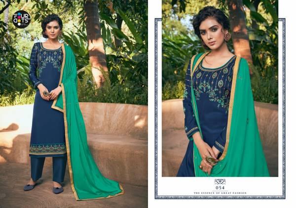 Four Dots Apsara Satin Embroidery Work Regular Wear Designer Salwar Suit Collection