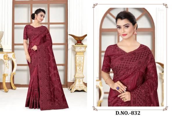 Utsav Nari Glimpse Modal Silk With Heavy Resham Codding Work Sarees Collection