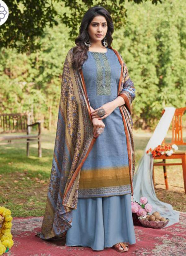 Lavina Maani Vol -2 Pure Cotton Mall With Embroidery Work Traditional Wear Plazzo Salwar Suit Collections