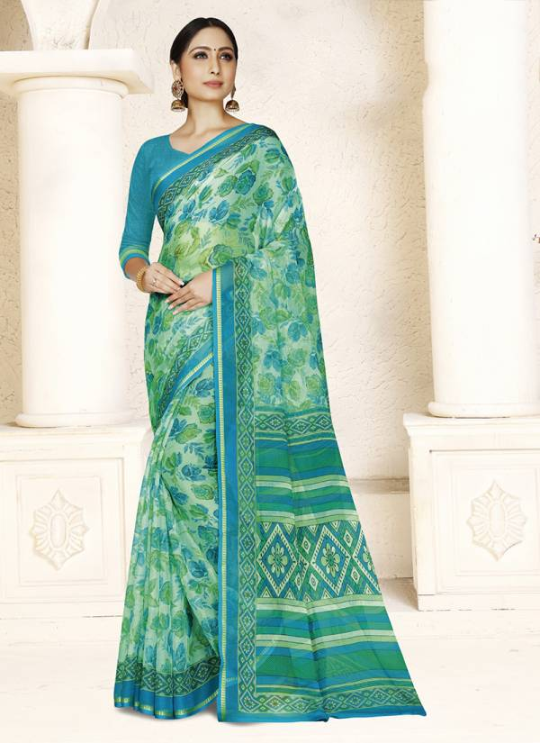 Ishika Chiffon Beauty Vol 1 Series 1011-1016 Chiffon Daily Wear Stylish Look Printed Sarees Collection