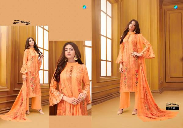 Your Choice Nargees Lawn Cotton Digital Print With Embroidery Work Palazzo Suits Collection