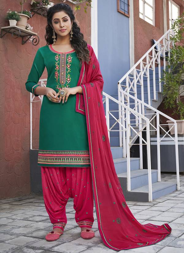 KVS Patiala House Vol 81 Series 5671-5678 Cotton With Fancy Embroidery Work New Designer Punjabi Suits Collection