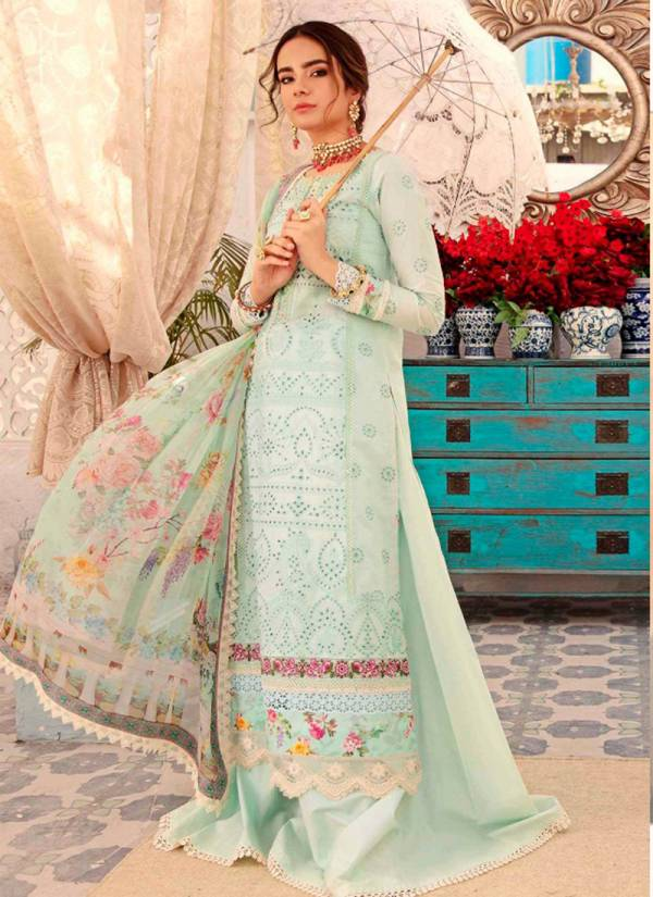 SD Noor Vol 5 Pure Cambric Cotton With Chikan Work And Embroidery Work Pakistani Suits Collection