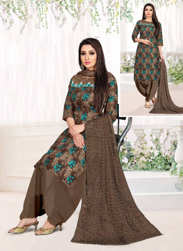 Sweety Fashion Pyaari Series 1001P-1012P Latest Cambric Cotton With Fancy Printed Daily Wear Readymade Patiyala Suits Collection