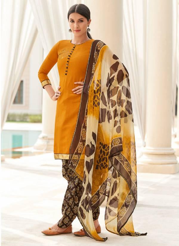 Sweety Fashion Rajjo NX Cotton Satin Swarovski Work Festival Wear Patiyala Suits Collection