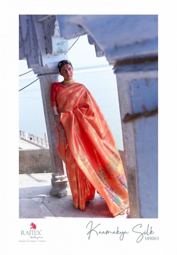 Rajtex Kaamakya Silk Soft Weaving Silk With Heavy Pallu Wedding Wear Sarees Collection