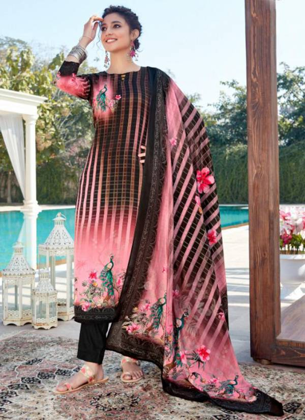 Kala Fashion Kala Silky Series 1001-1008 French Crepe Digital Printed Latest Straight Suits Collection