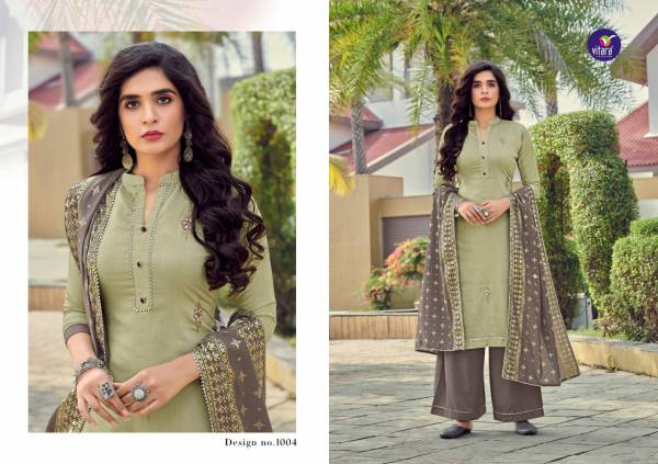 Vitara Fashion Opera Series 1001-1006 Heavy Chinnon With Hand Work New Designer Readymade Suits Collection