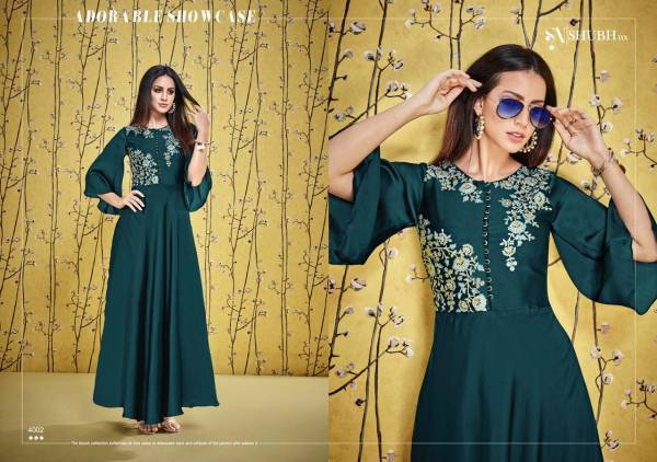Shubh NX Afshana Vol 1 Satin Georgette With Heavy Work Long Festival Gown Collection