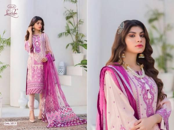 Levisha Al Zohaib Series 1013-1017 Jam Cotton Silk Digital Printed With Heavy Embroidery Work Pakistani Suits Collection