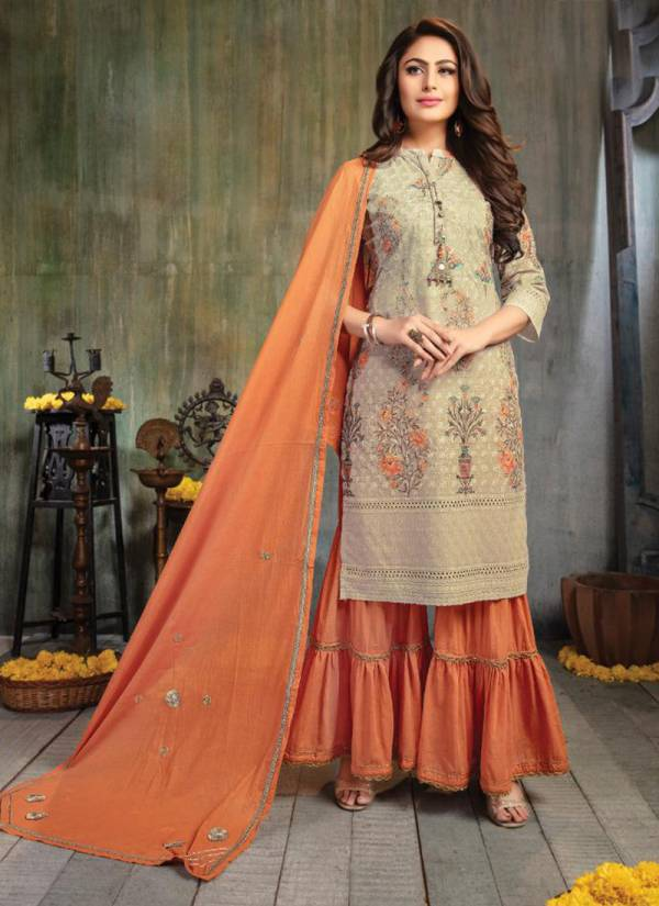 Kiana Fashion Sitara Series 001-008 Schiffli Digital Print With Stylish Flex Pant Kurti With Dupatta Collection