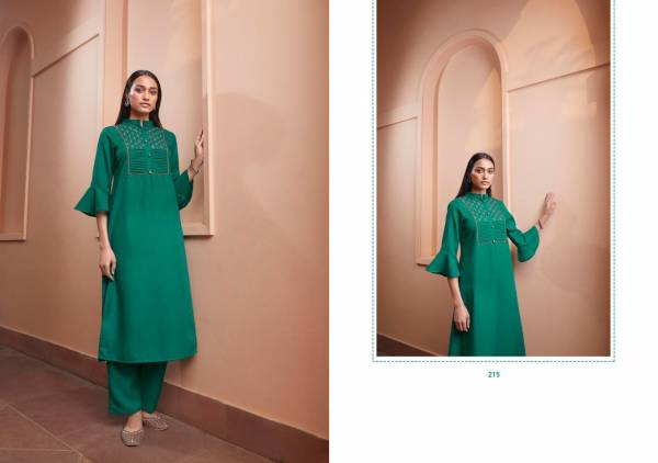 Stylemax Kaira Vol 1 Series 211-221 Majic Slub With Embroidery Work Daily Wear Kurtis With Pant Collection