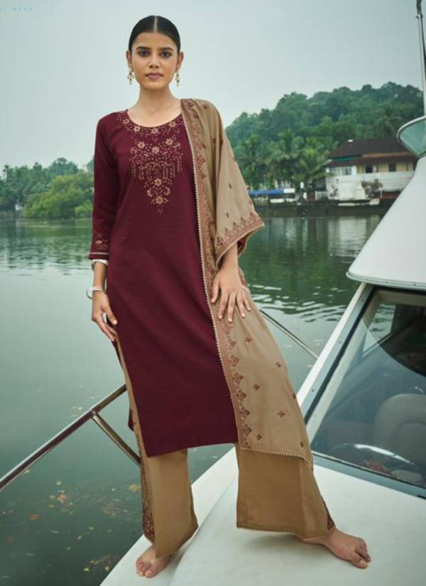 Kalki Fashion Mirrow Vol 3 Series T-62001 - T-62006 Pure Viscose Silk With Sequins & Embroidery Work Latest Designer Readymade Palazzo Suits Collection
