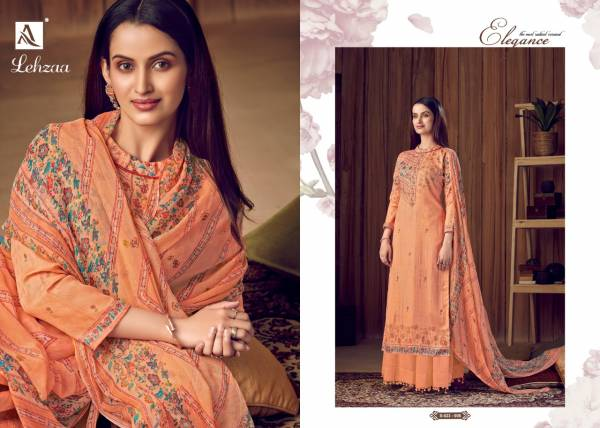 Alok Suit lehzaa Series 523-001-523-008 Pure Wool Pashmina Digital Print With Fancy Work Winter Season Suits Collection