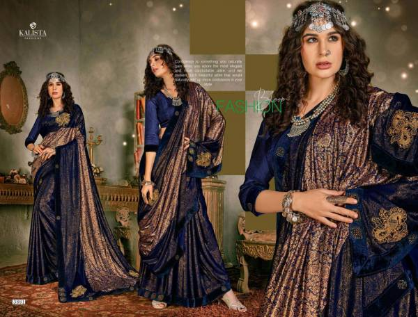 Kalista Fashion Samsung Series 3881-3886 Imported Fancy Lycra New Designer Party Wear Sarees Collection