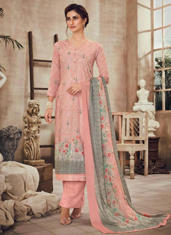 Vivek Fashion Falak Cambric Cotton Digital Print With Embroidery Work Eid Special Wear Plazzo Salwar Suit Collections
