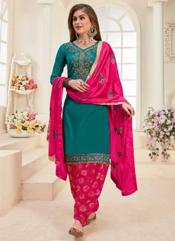 Utsav Suit Mahek Vol -13 Series 2001-2006 Jam Cotton Jacquard Embroidery Work Festival Wear Patiyala Salwar Suit Collections