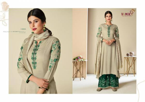 Vamika NX Signature Pure Muslin Silk With Embroidery Work Readymade Salwar Suits Collection