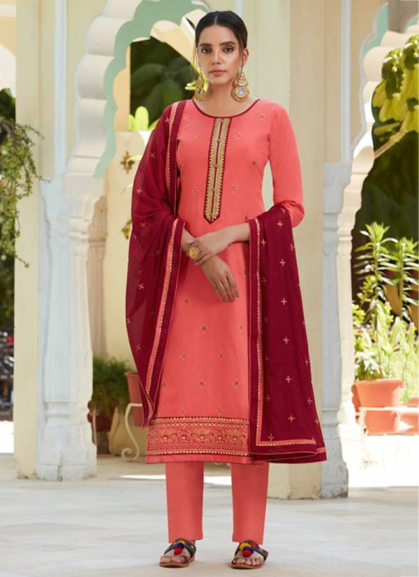 Kessi Gulshan Series 11041-11045 Jam Silk Work With Diamond Work Latest Daily Wear Straight Suits Collection
