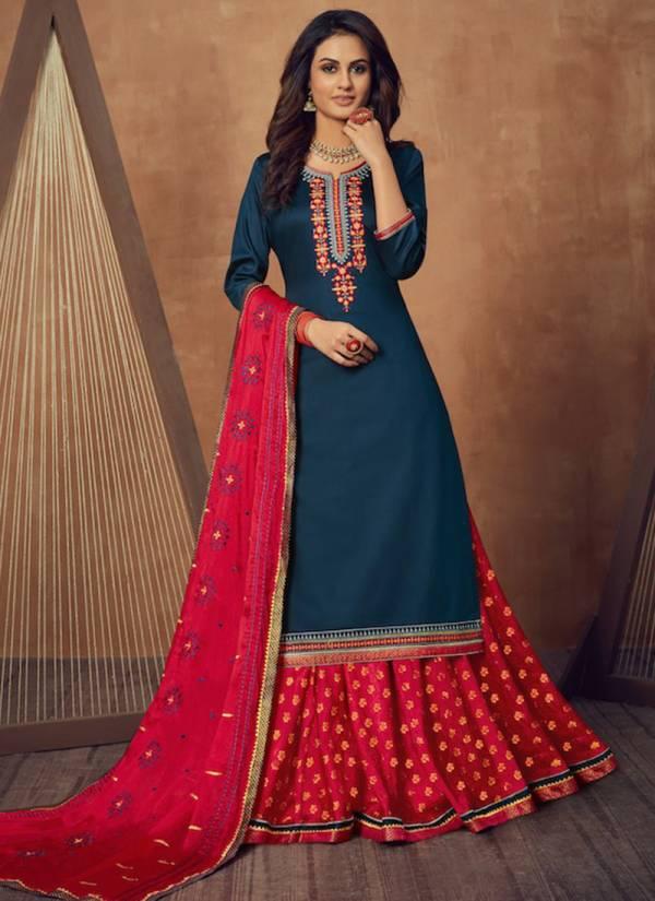 KVS Black Berry Vol 3 Jam Silk Cotton With Designer Embroidery Work Festival Wear Salwar Suits Collection