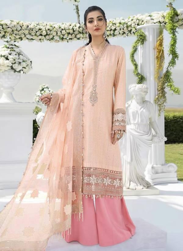 Shree Fabs Mariya B Sateen Nx Series 1456-1459 Jam Cotton Net Foil Print Party Wear Embroidery Pakistani Salwar Suit Collections