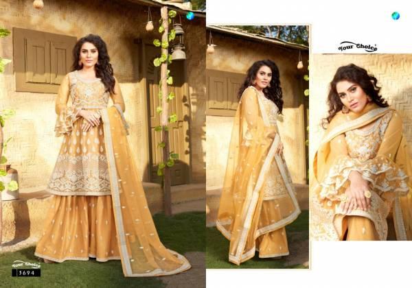 Your Choice Zoyaa Butterfly Net Fancy Hand Work Festival Wear Designer Salwar Suits Collection