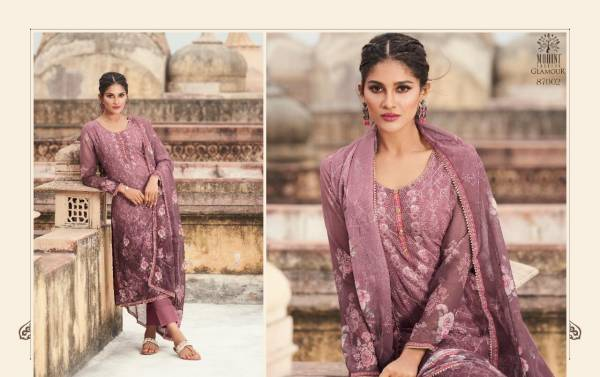 Mohini Fashion Glamour Vol 87 Series 87001-87006 Georgette Embroidery Work With Digital Printed Casual Wear Salwar Suits Collection