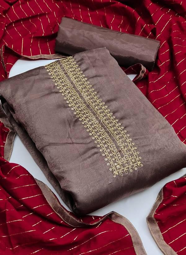 Shanaya Fancy Silk Coding Sequins Work Dress Material Collection