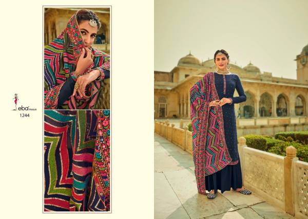 Eba Lifestyle Ashpreet-2 Heavy Chinon Embroidery Work Trending Designer Palazzo Suit Collection