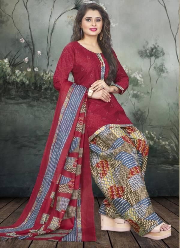 Pratibha Textile Patiyala Vol 1 Pure Cotton Stylish Look Designer Readymade Palatial Suits Collection