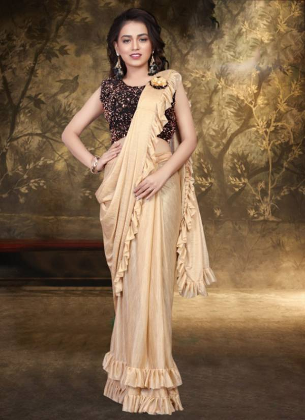 Ladys Ethnic Lycra Fancy Trending Look Party Wear Sarees Collection