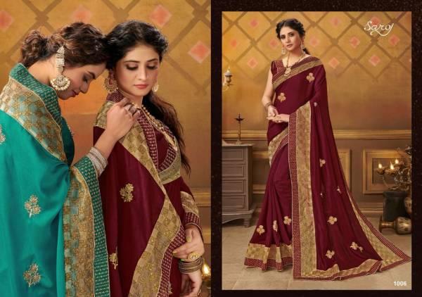 Saroj Divyajyoti Series 1001-1008 P P Net Zari Patta And Butti Work Festival Wear Sarees Collection
