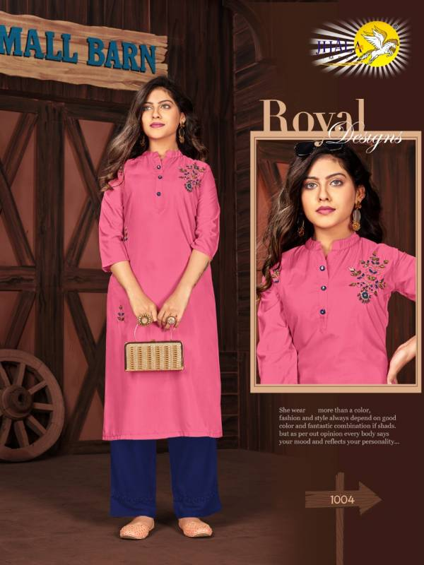 Jhala Impex Khaatlli Vol 3 Series 1001-1007 Muslin Silk With Khatli Hand Work Latest Casual Wear Kurtis Collection