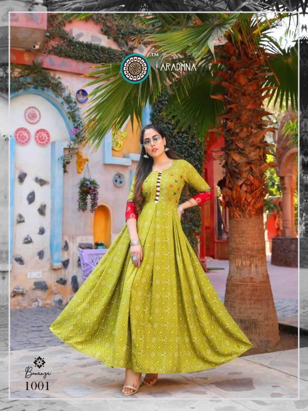 Aradhna Fashion Bonaza Vol 1 Heavy Rayon With Designer Work Long Kurtis Collection