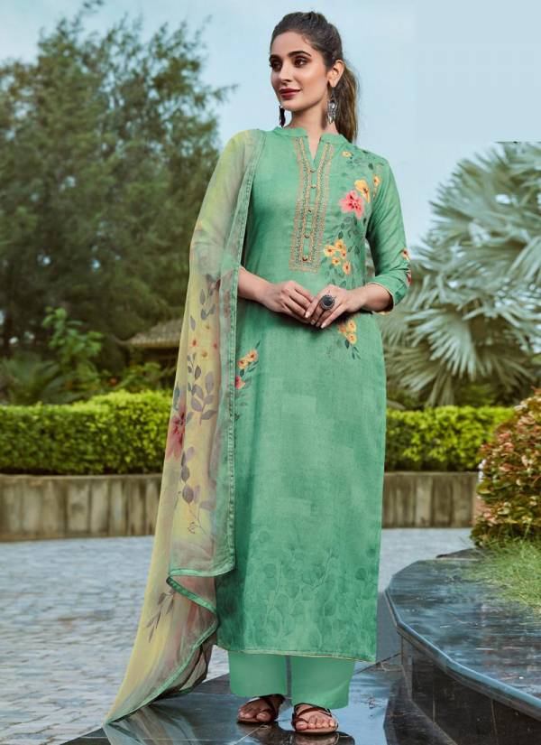 Relssa Shine Series 61001-61006 Pure Pashmina Embroidery Work With Digital Print Winter Season Special Palazzo Suits Collection