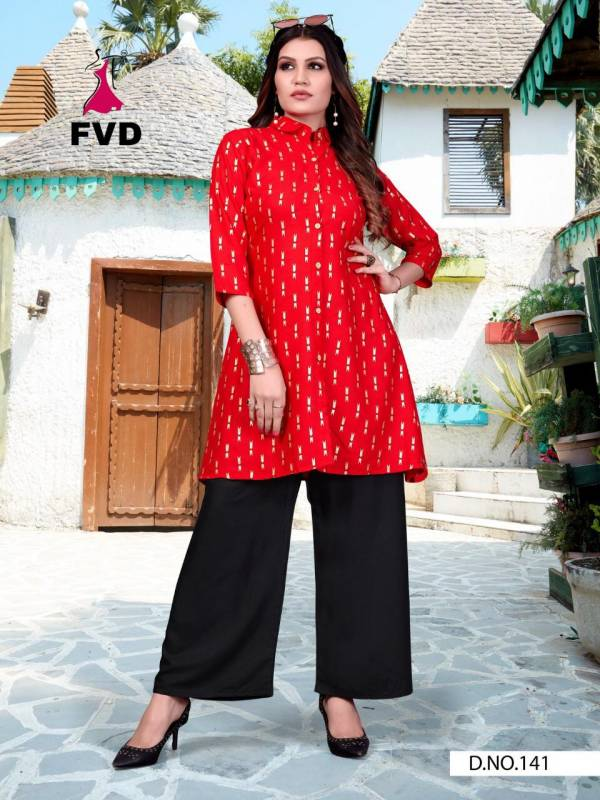 Fashion Valley Dresses 7 Horse Series 139-144 Rayon With Block Foil Printed New Designer Long Kurtis With Palazzo Collection
