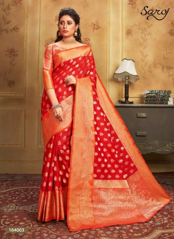Saroj Sonalika Dola Silk Banarasi Style With Viscose Butti Work Festival Wear Sarees Collection