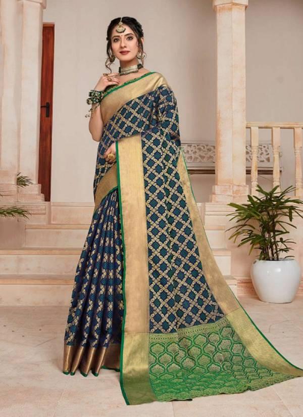 Saroj Pushpanjali Series 1001-1006 Rapier Jacquard Silk & Banarasi Silk Party Wear Sarees Collection