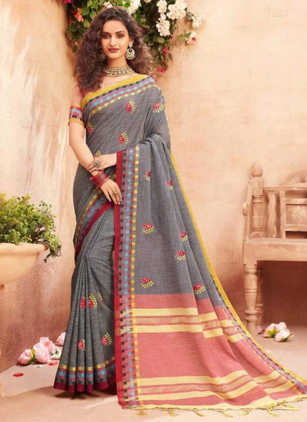 Stylewell Anokhi Jacquard Linen Designer Festival Wear Sarees Collection