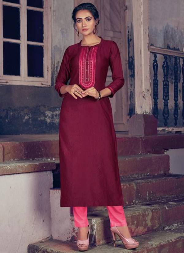 Rangoon Light Line Vol 4 Series 2671-2678 Fancy Lining Silk Casual Wear Long Kurtis Collection