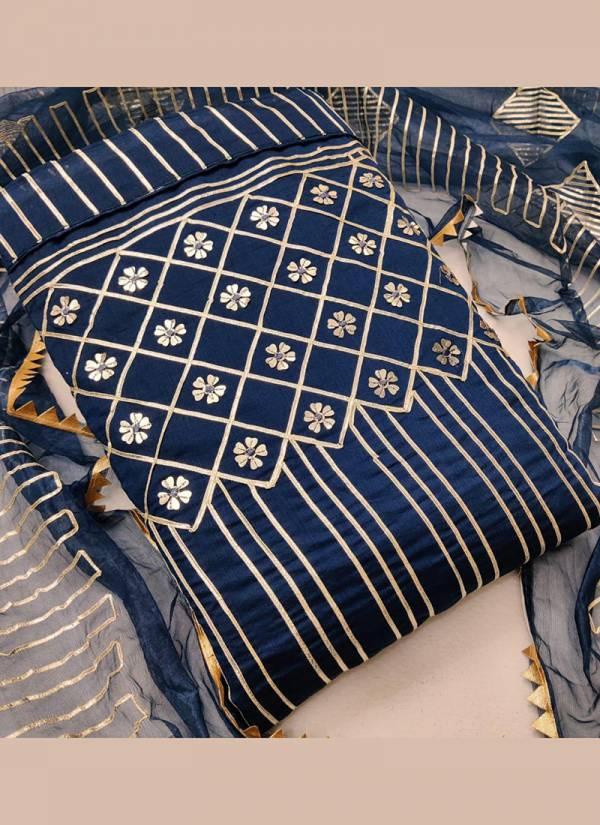 Shree Bherav Suits Series SM-1-SM-4 Semi Modal With Gota Patti Work Festival Wear Latest Designer Salwar Suits Collection