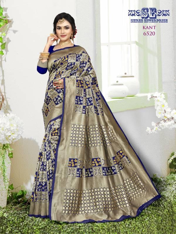 Shree Enterprise Kant Series 6518-6521 Lichi Soft Silk Weaving Exclusive Designer Sarees Collection