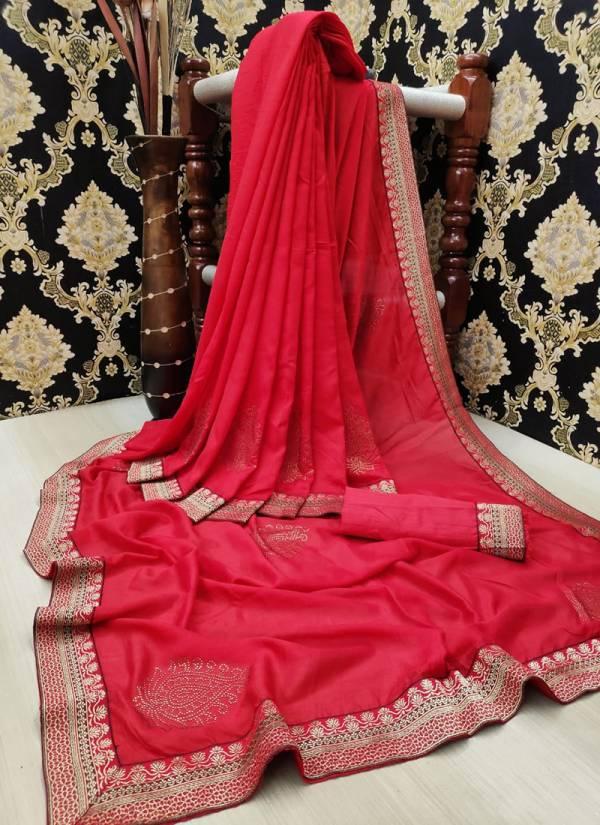 Ruhi Fashion Series 201-206 Heavy Pure Victoria Silk Two Tone Weightless Diamond Work Sarees Collection