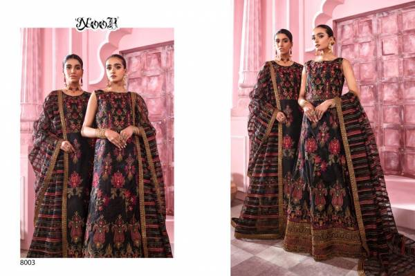 Noor Znik Vol-1 Butter Fly Net with Heavy Embroidery Work Salwar Suit Collection