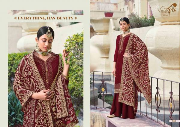 Vouch Fashion Naari Vol 1 Georgette With Chain Work And Masin Diamond Work Palazzo Suits Collection