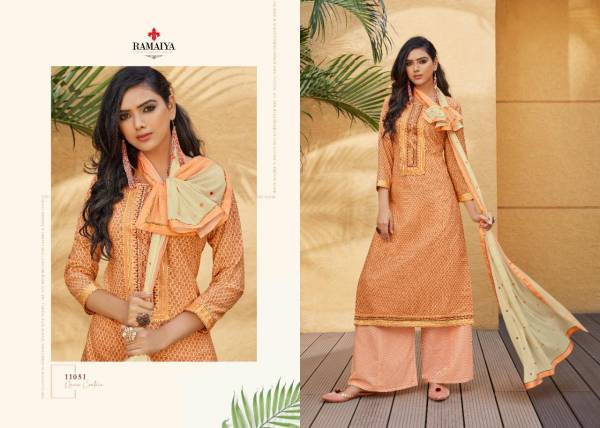Kessi Rose Gold Series 11051-11058 Cotton Printed With Fancy Exclusive Work Traditional Wear Salwar Suits Collection