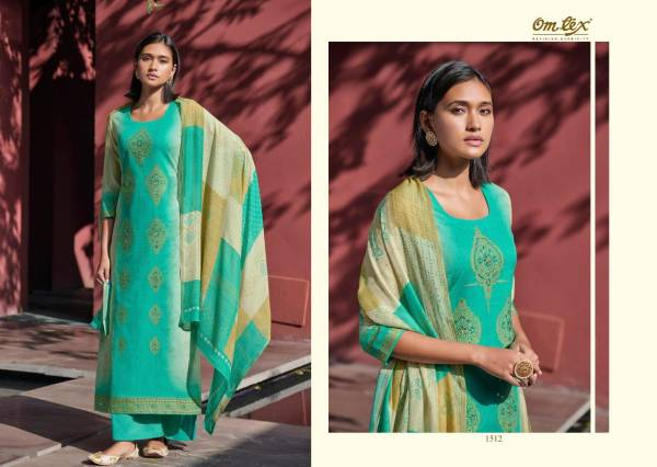 Om Tex Frona Superfine Handloom Cotton Jacquard With Hand Work Palazzo Suits Collection