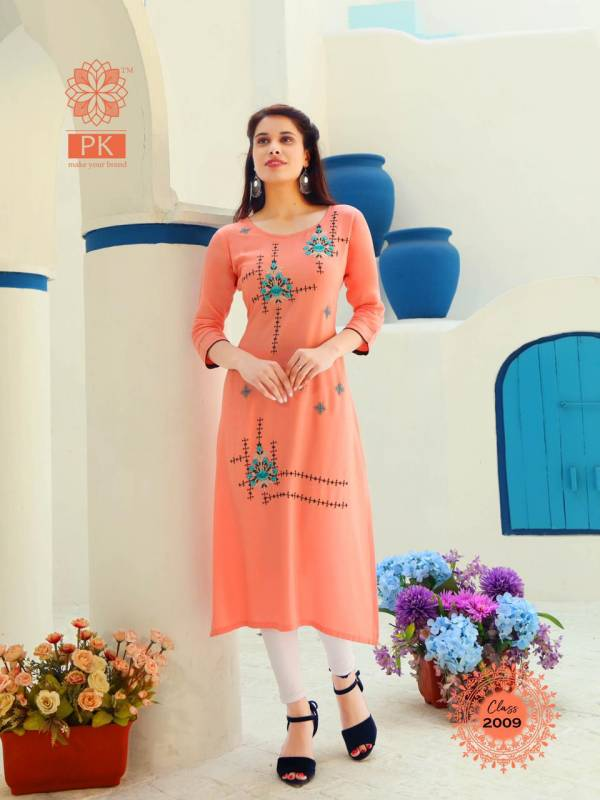 PK Fashion Class Vol 2 Series 2001-2012 Heavy Rayon With Embroidery Work Designer Festival Wear Kurti Collection