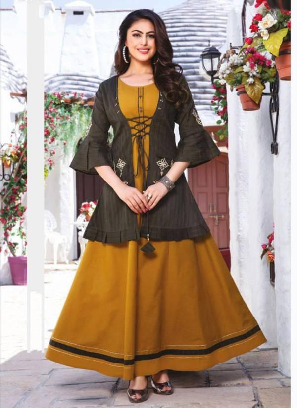 Kiana Chulbuli Series 001CHULBULI-008CHULBULI Cotton Jacket  With Schiffli And Embroidery Work New Designer Style Kurtis Collection